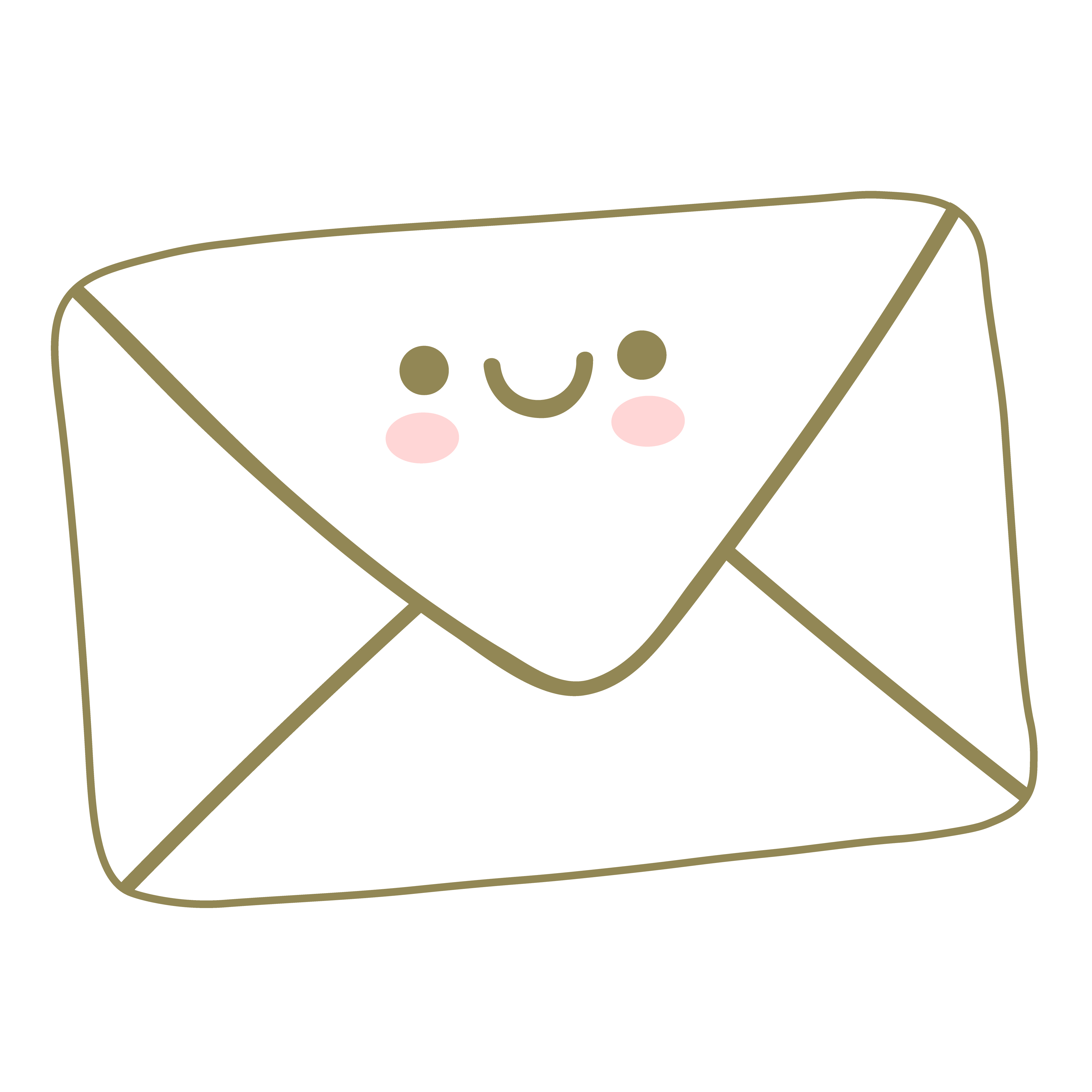 Envelope Newsletter Gold CarinJGold